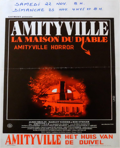 An original Belgian poster for the film Amityville Horror
