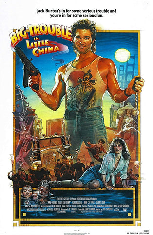 An original movie poster for the film Big Trouble In Little China