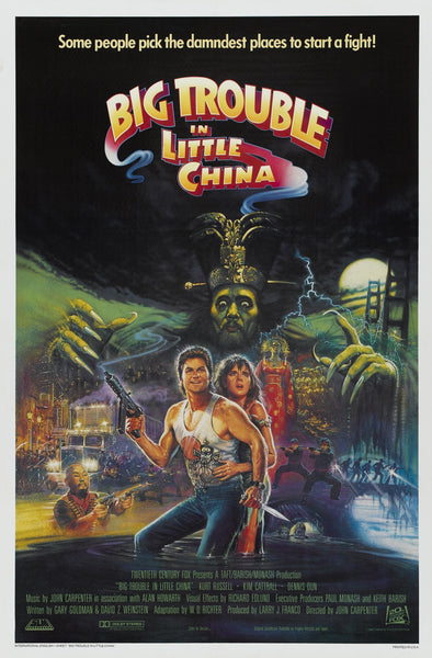 An original movie poster for Big Trouble In Little China