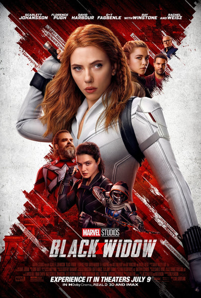 The movie poster for Marvel's film Black Widow