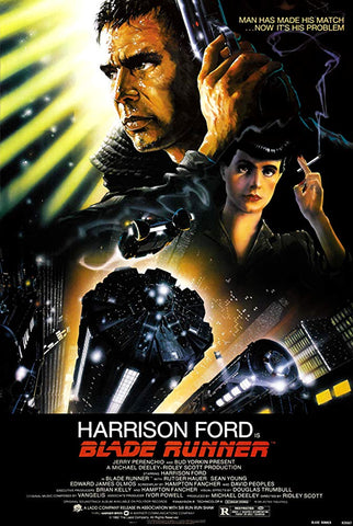 An original movie poster for the film Blade Runner by John Alvin
