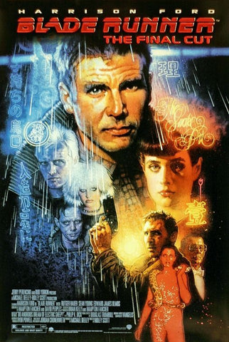 An original movie poster for the film Blade Runner