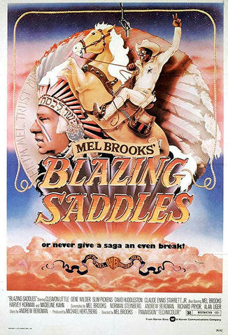An original movie poster for Blazing Saddles by John Alvin