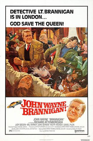An original movie poster for the film Brannigan