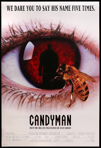An original movie poster for the film Candyman