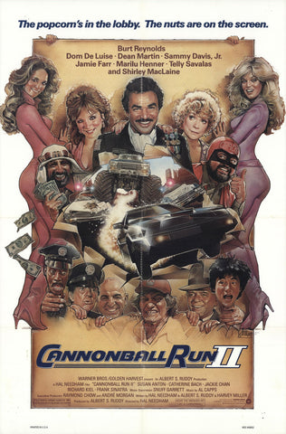 An original movie poster for the film The Cannonball Run 2