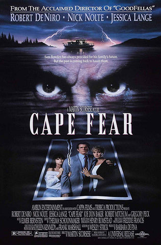 An original movie poster for the film Cape Fear by John Alvin