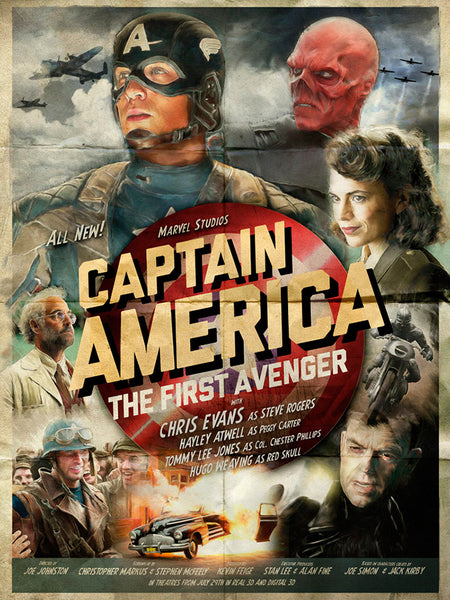An unofficial movie poster for Marvel's Captain America by Richard Davies