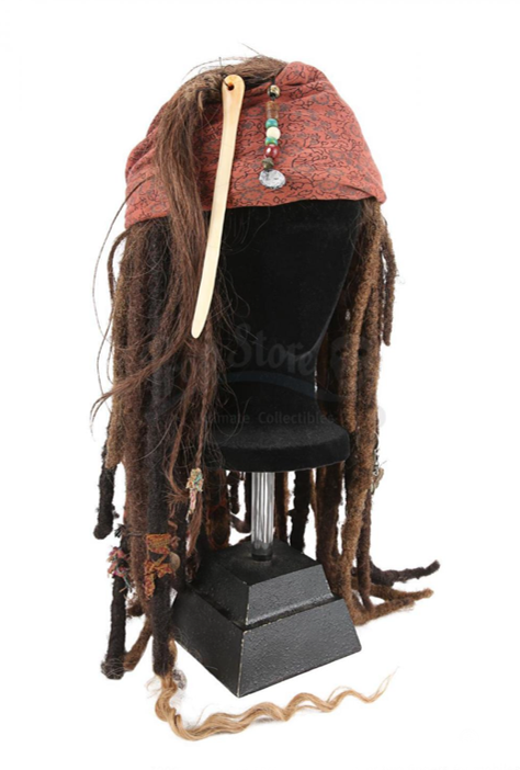Captain Jack Sparrow's wig from the Pirates of the Caribbean film series