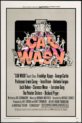A movie poster for the film Car Wash