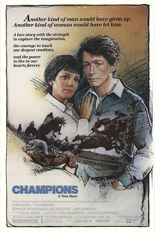 An original movie poster for the film Champions