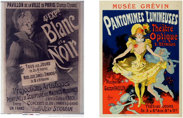 Two Jules Cheret Movie Posters from the 1890s