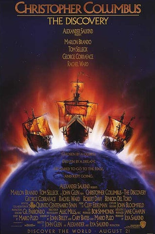 An original movie poster for the film Christopher Columbus The Discovery by John Alvin
