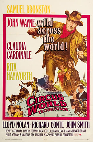 A movie poster by Frank McCarthy for the film Circus World