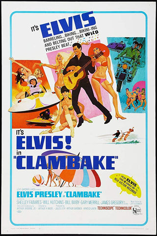 An original movie poster for the film Clambake