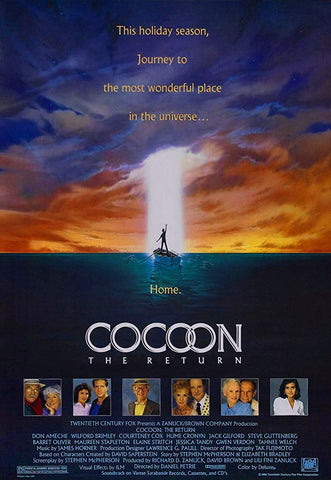 An original movie poster for the film Cocoon The Return by John Alvin