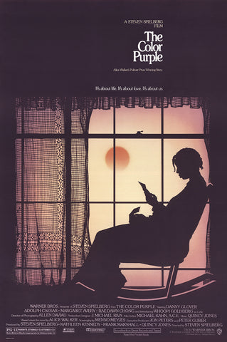 An original movie poster for the film The Color Purple by John Alvin