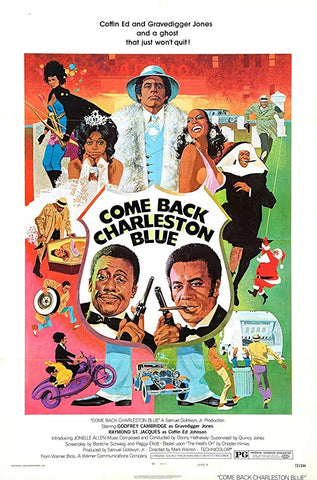 An original movie poster for the film Come Back Charleston Blue