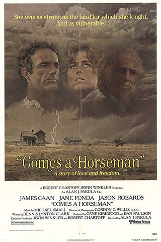 An original movie poster for the film Comes a Horseman