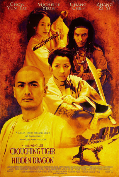 An original movie poster for the film Crouching Tiger, Hidden Dragon