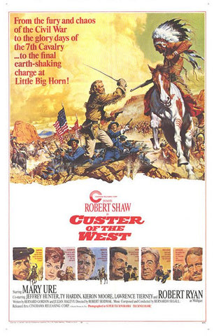 A movie poster by Frank McCarthy for the film Custer of the West