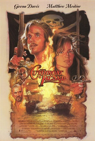 An original movie poster for the film Cut Throat Island
