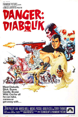 A movie poster by Frank McCarthy for the film Danger Diabolik