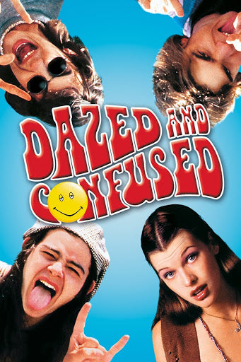An original movie poster for the film Dazed and Confused