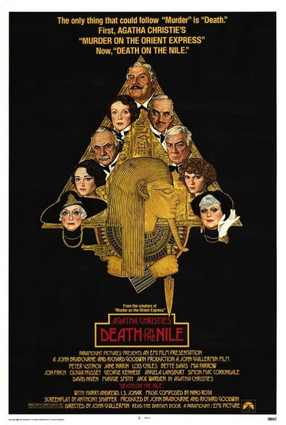 Richard Amsel's movie poster for the film Death on the Nile