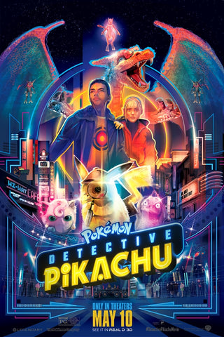 The movie poster for Detective Pikachu by Orlando Arocena