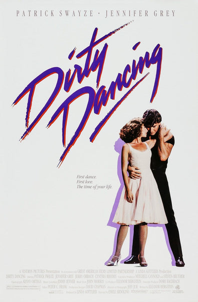 An original movie poster for the film Dirty Dancing