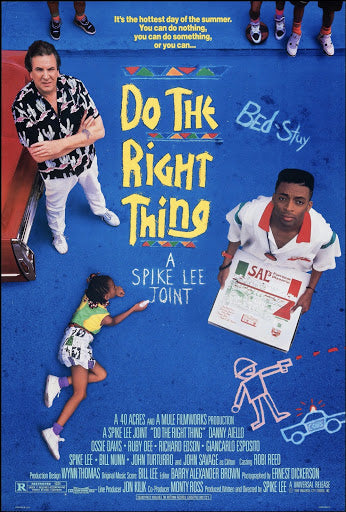 An original movie poster for the film Do The Right Thing
