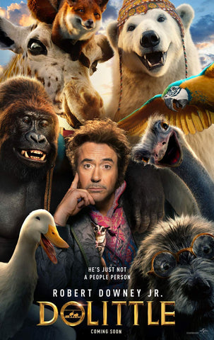 An original movie poster for the 2020 film Dolittle