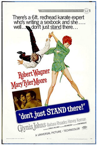 An original movie poster for the film Don't Just Stand There