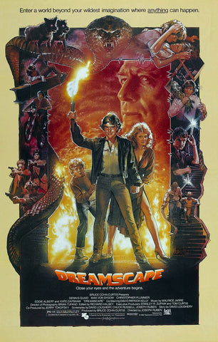 An original movie poster for the film Dreamscape