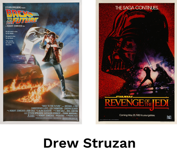 Movie posters by artist Drew Struzan
