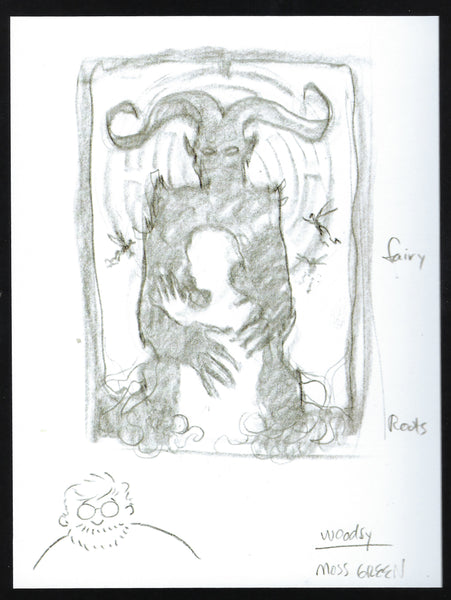 Drew Struzan's sketch for the movie poster for Pan's Labyrinth