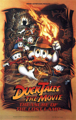 An original movie poster for the film Duck Tales the Movie
