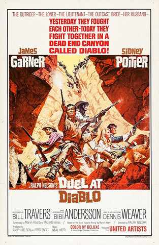 A movie poster by Frank McCarthy for the film Duel At Diablo