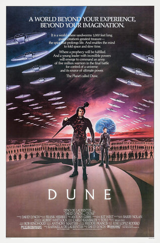 Movie poster for the film Dune