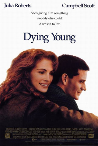 An original movie poster for the film Dying Young by John Alvin
