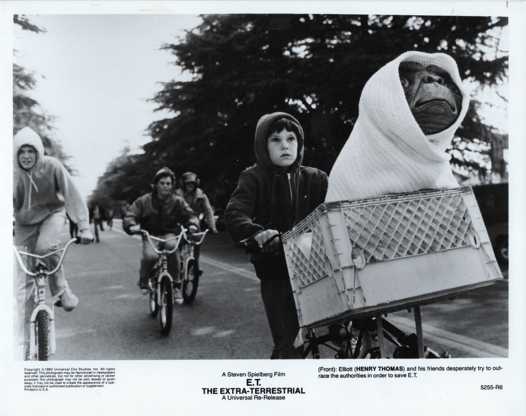 An original theatrical still from the movie E.T. (The Extra Terrestrial)