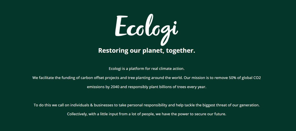 The Ecologi mission statement