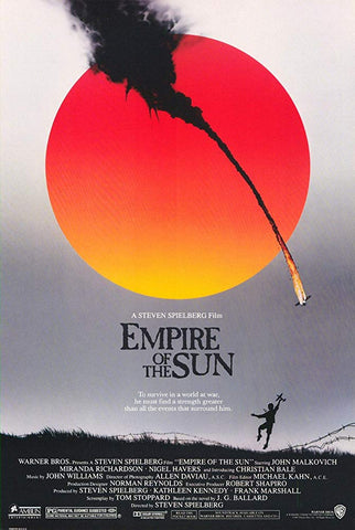 An original movie poster for the film Empire of the Sun by John Alvin
