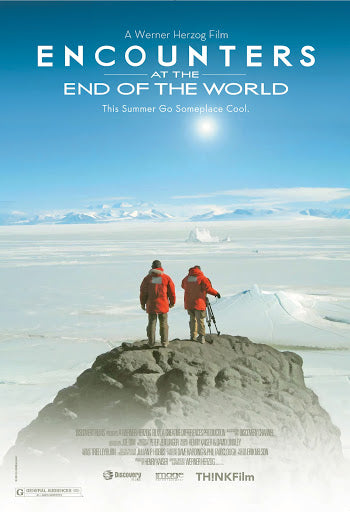 An original movie poster for the film Encounters at the End of the World