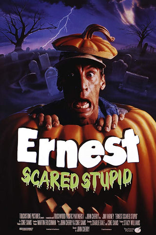 An original movie poster for the film Ernest Scared Stupid by John Alvin