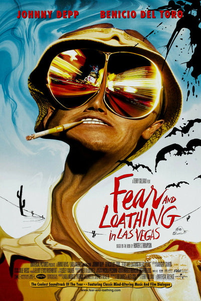 An original movie poster for the film Fear and Loathing in Las Vegas