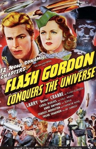 An original movie poster from the 1940s for Flash Gordon