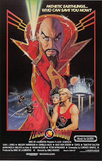 The movie poster for the film Flash Gordon by Richard Amsel