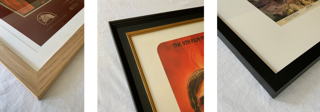A range of movie posters framed by Art of the Movies